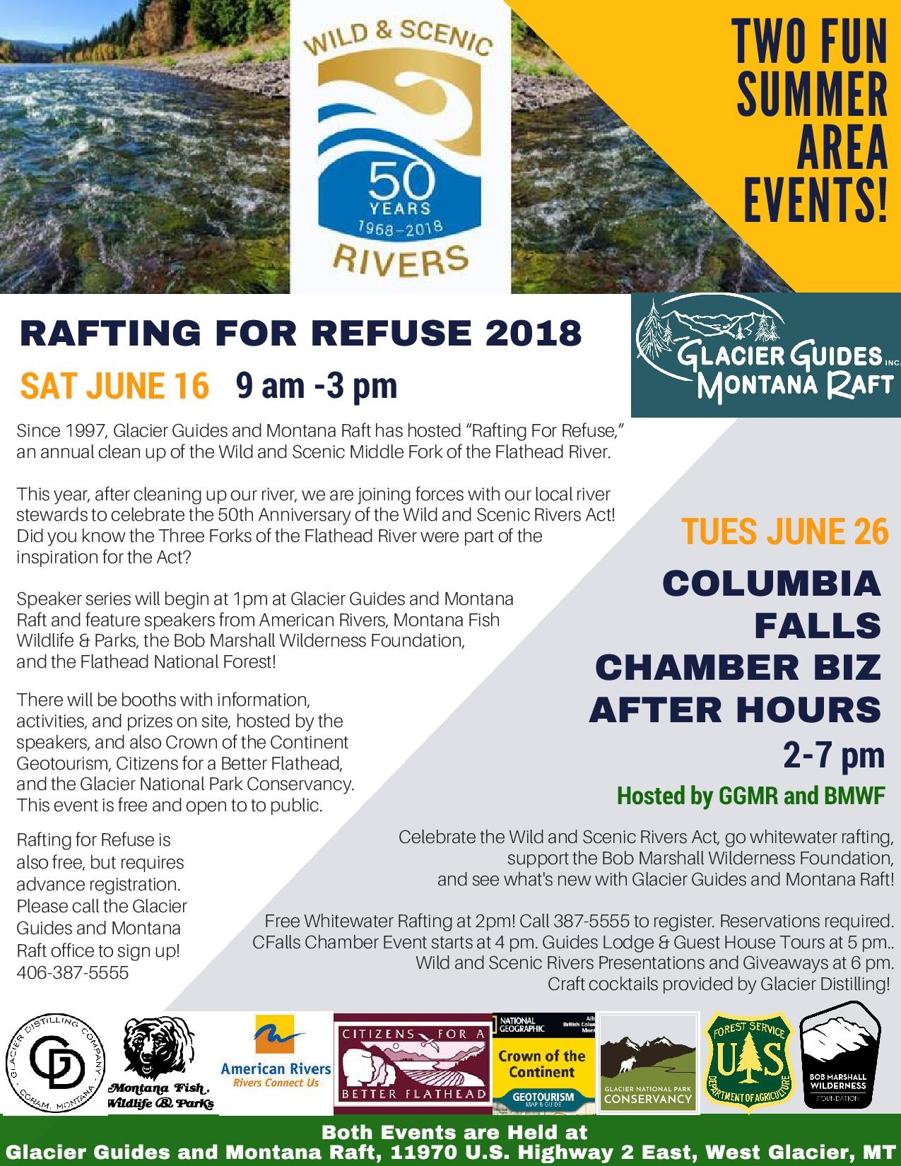 Glacier Guides Montana Raft Two Summer Events Flyer