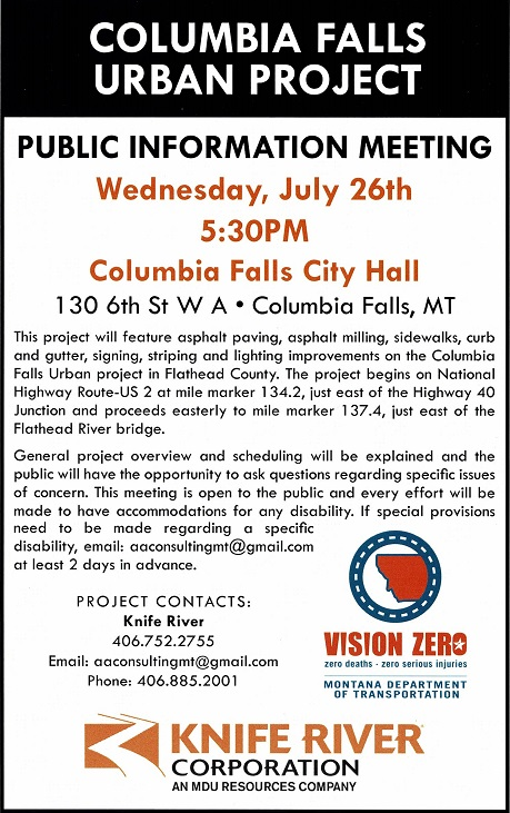 Hwy Project - Columbia Falls Area Chamber of Commerce