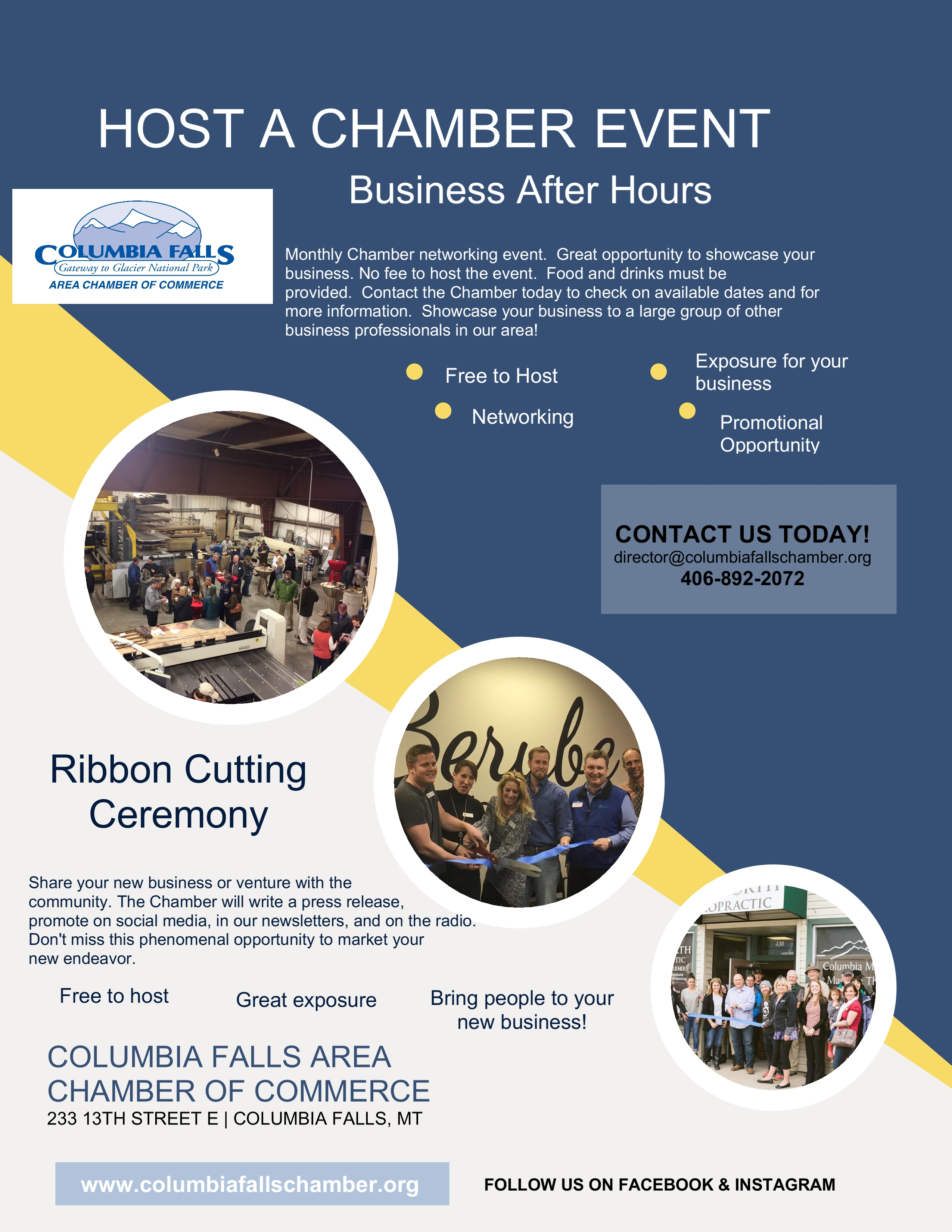 Host a Chamber Event Flyer