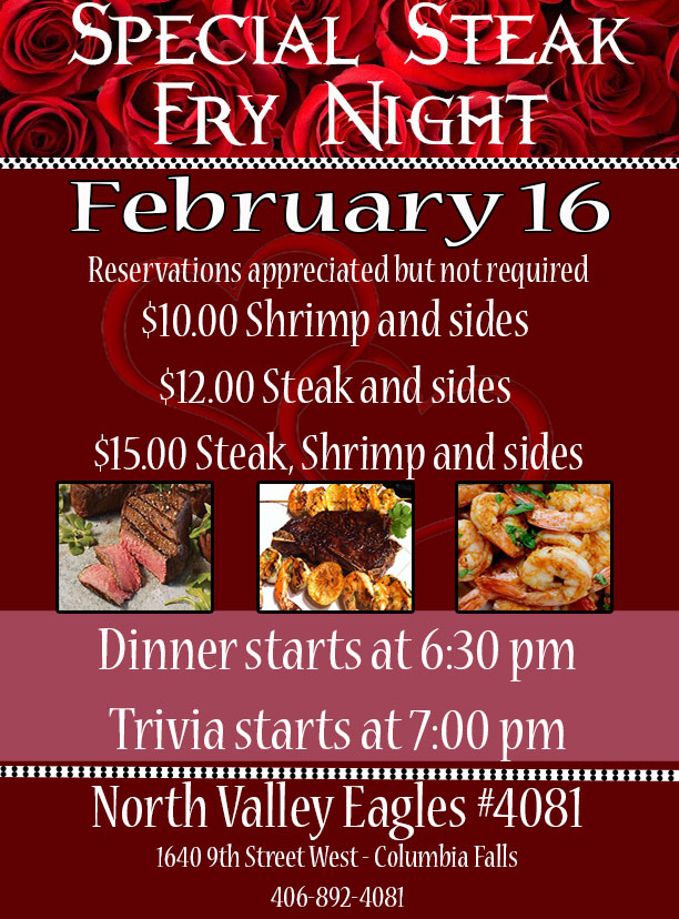 Steak Fry Night plus Trivia