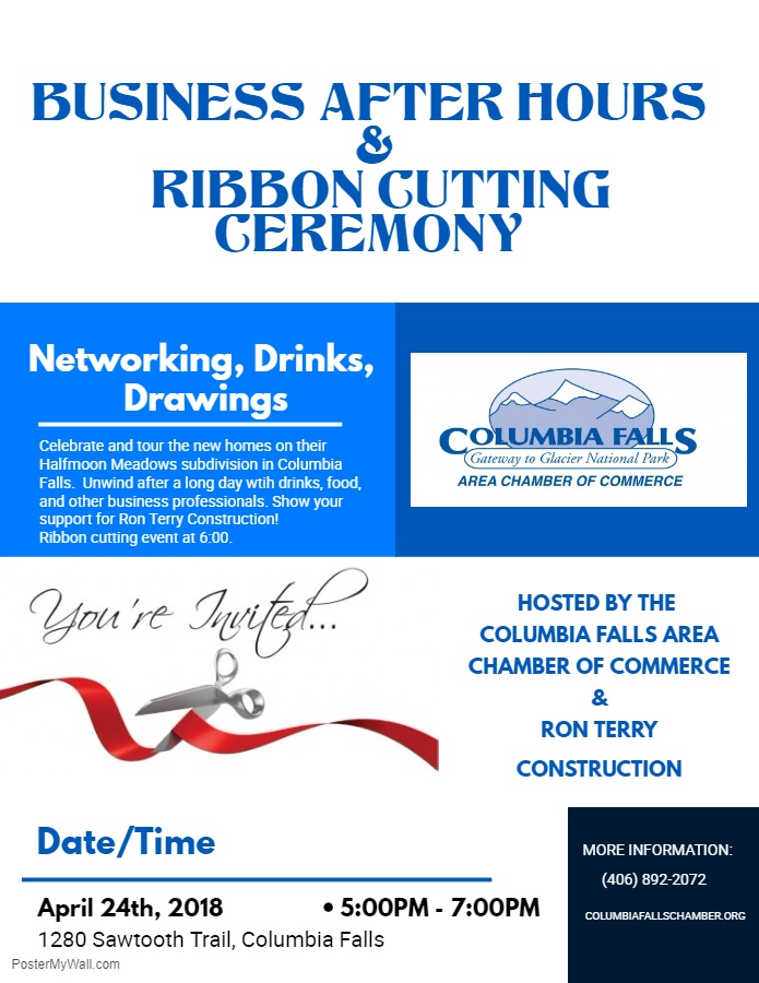 Business After Hours with Ron Terry Construction Flyer