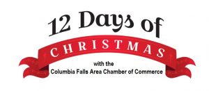 the 12 days of christmas fundraiser with the columbia falls area chamber
