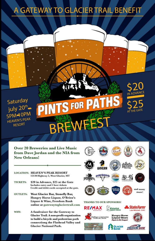 Pints for Paths 2019 Poster