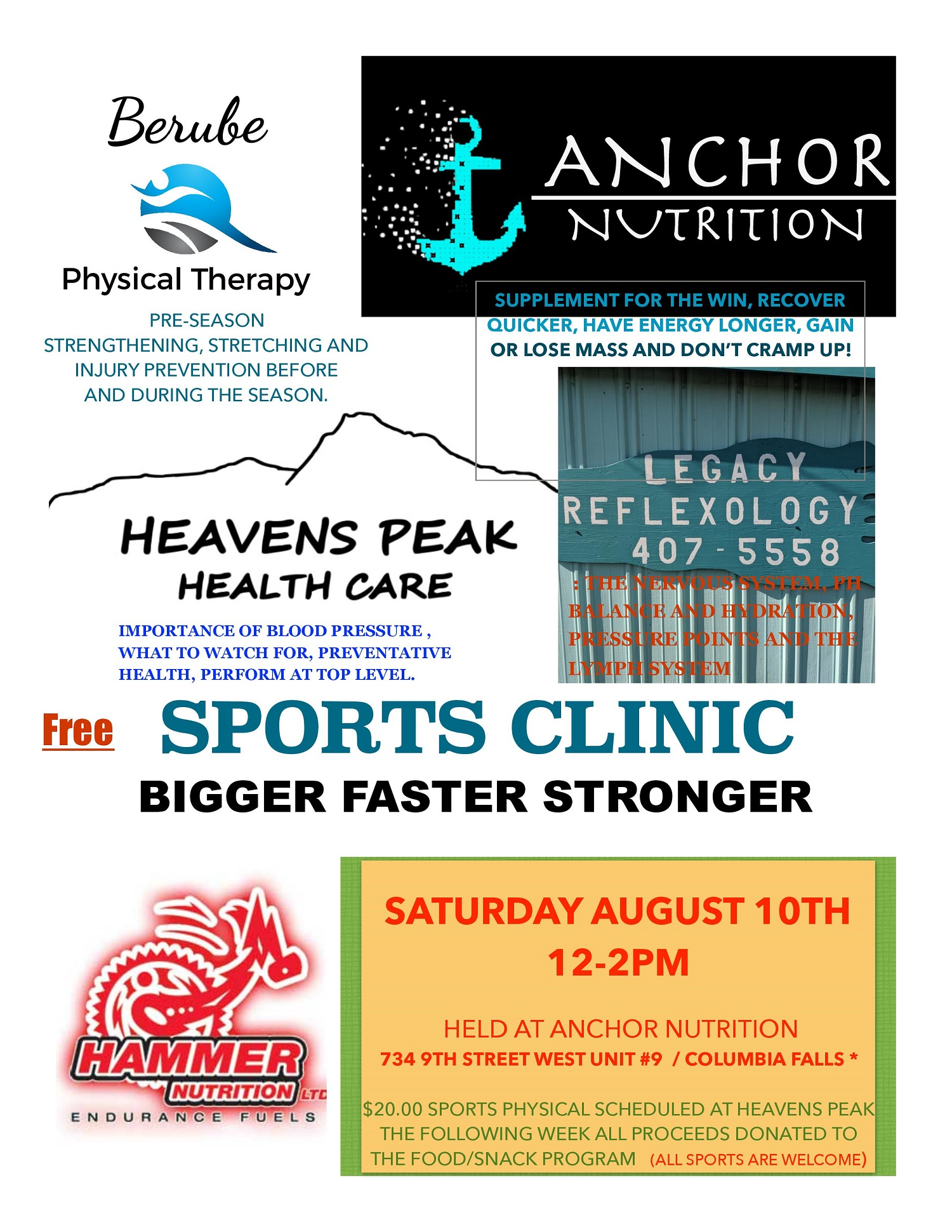 Sports Clinic Flyer