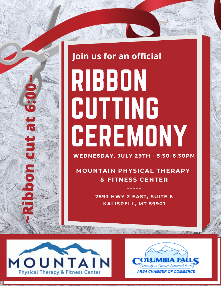 Mountain Physical Therapy Ribbon Cutting Flyer