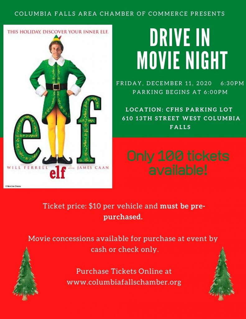 Drive In Movie Flyer - Featuring Elf