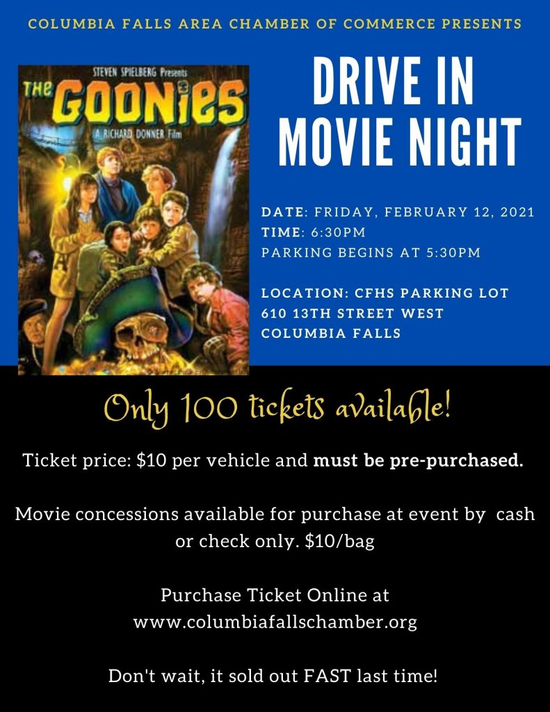 Feb 12th Drive In Movie Flyer